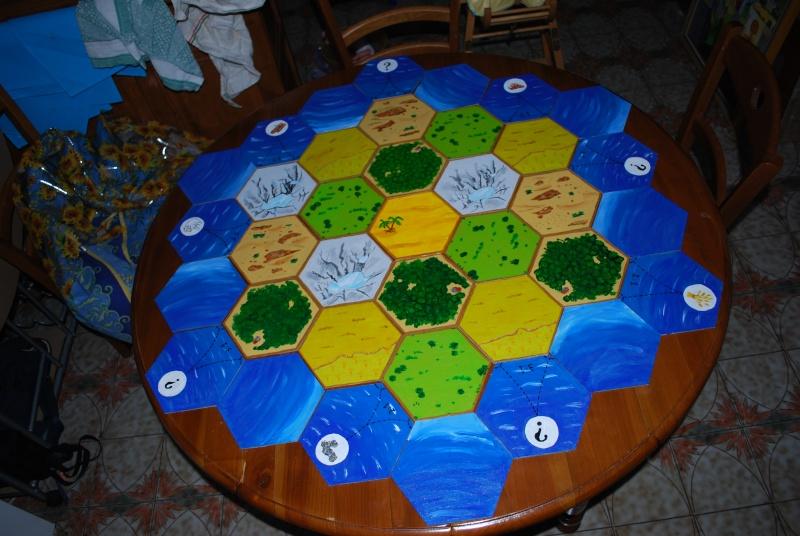 """repas thème """"jeux de société"""" pour l'anniversaire de mon mar Table110"""