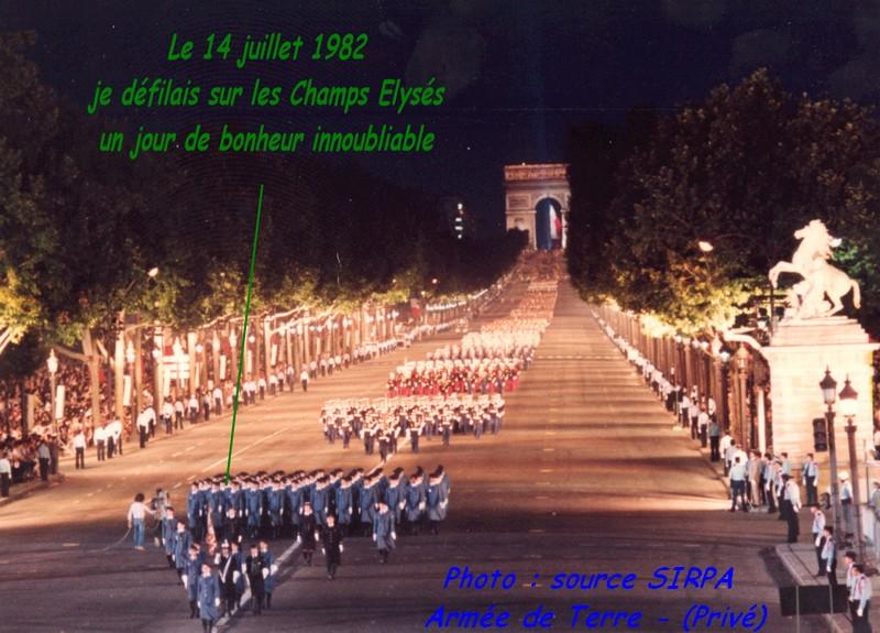 14 juillet 1982, l'honneur de défiler sur la plus belle avenue du Monde 14juil11