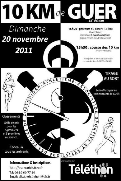 10 km de Guer: 20/11/2011 Aff10k10