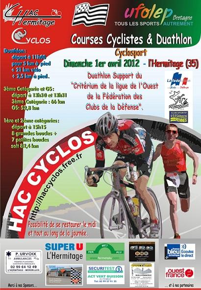 Critérium ligue Ouest FCSAD de duathlon: 1er avril 2012. Affich11