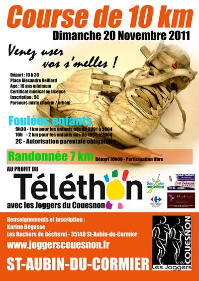10 km de St Aubin du Cormier: 20/11/2011. Paffic10