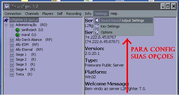 Team Speak  Server  TS ( saiba como usar) Imagem20