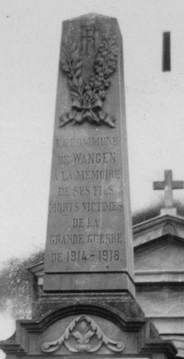Wangen et ses trois monuments aux morts 45195611