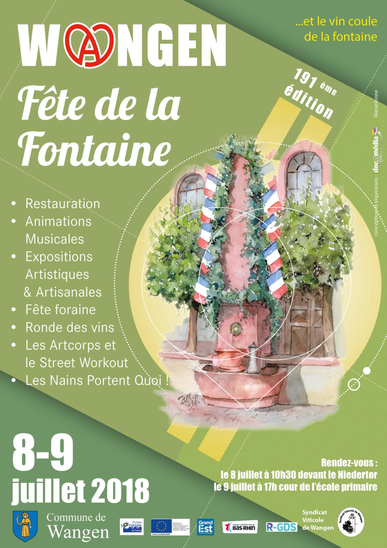 Fête de la Fontaine de Wangen  8-9 juillet 2018 Affich10