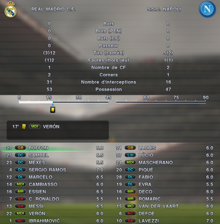 SSC Napoli - Real Madrid CF Realna10