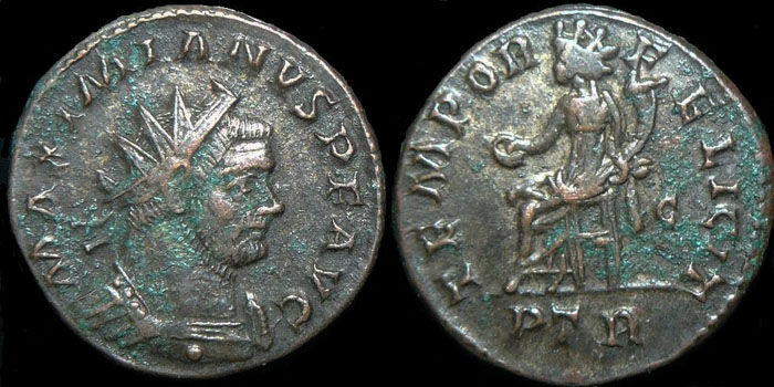 Aureliani pour Trèves de Dioclétien et de ses corégents  Maximi10