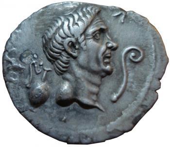 DENIER DE POMPEE Cnæus Pompeius Magnus Restitution de Sextus Pompae10