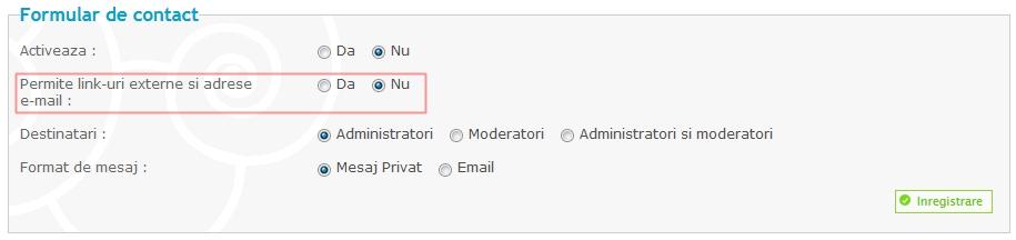 Actualizari noi: Reguli specifice fiecarui forum, posibilitatea dezactivarii codurilor JS, optimizare footer si altele Cont110
