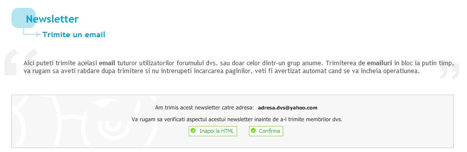Imbunatatirea sistemului de trimitere a unui newsletter Gata110