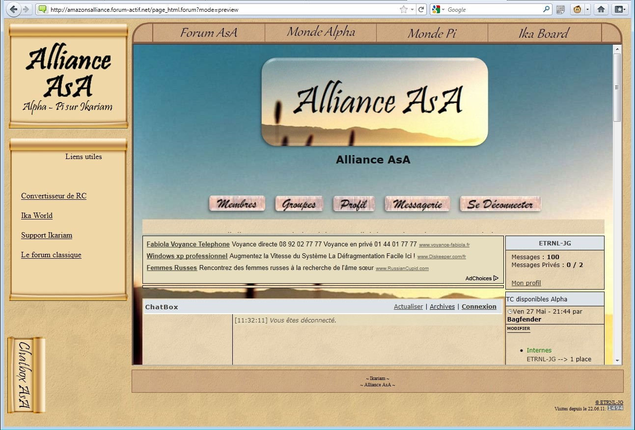 PB page html iframe miroir Affich10