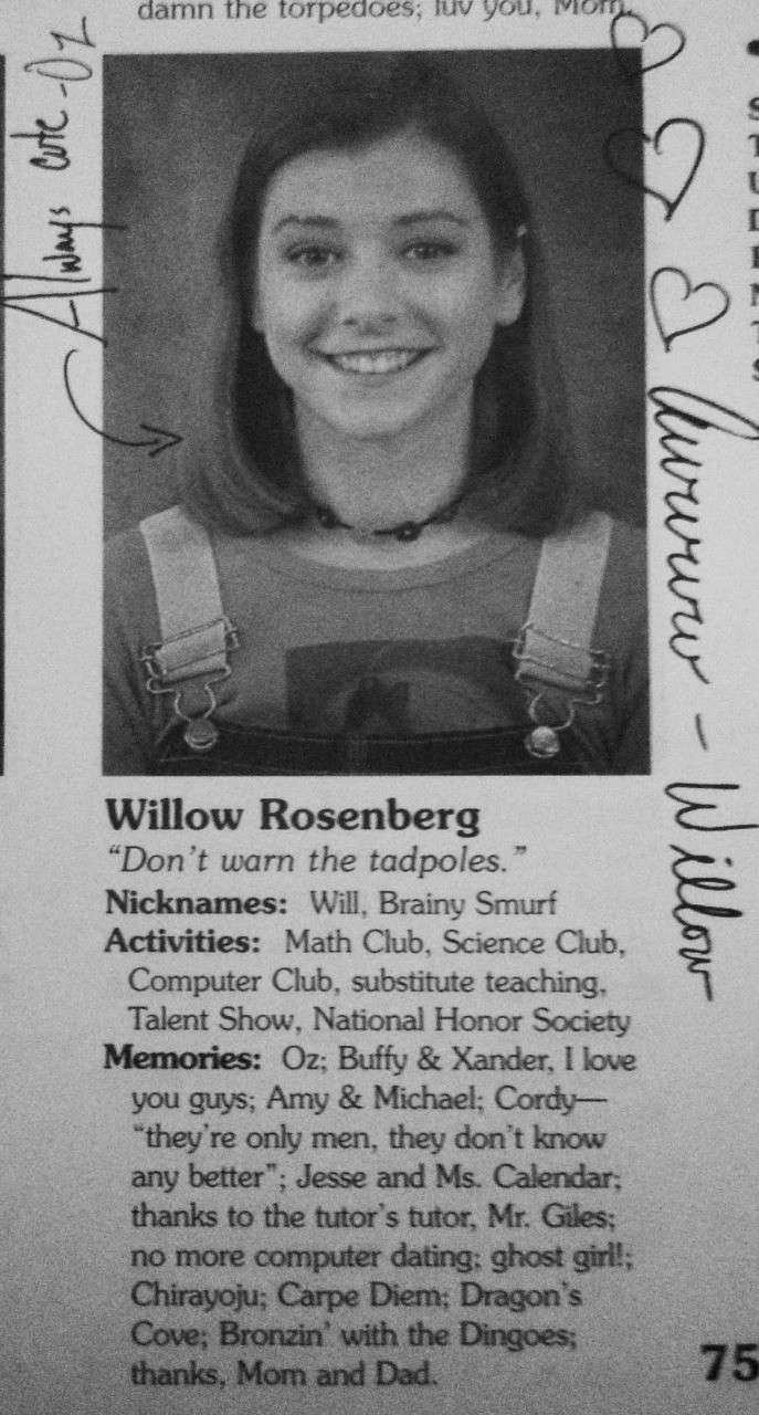 Student's memories [Sunnydale High Yearbook] 0536
