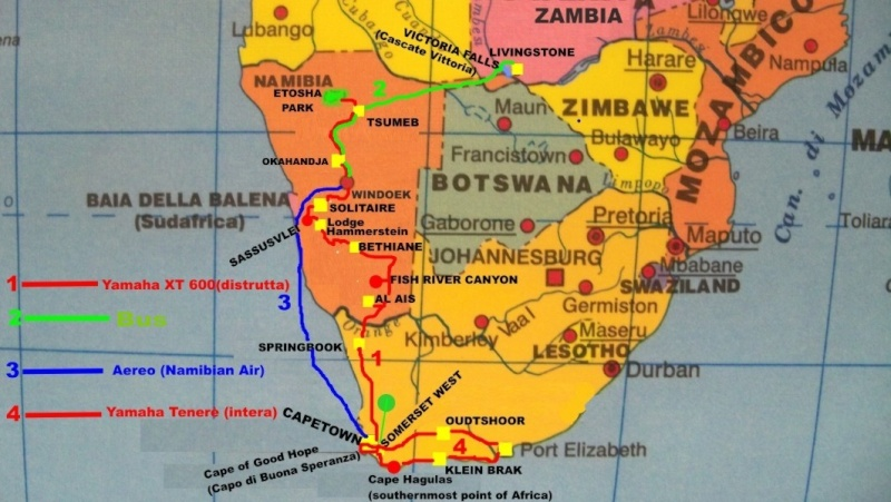 Africa 2011: Sud Africa, Namibia, Zambia su Yamaha XT 660 R e Yamaha XT 660 Z Tenerè Resize14