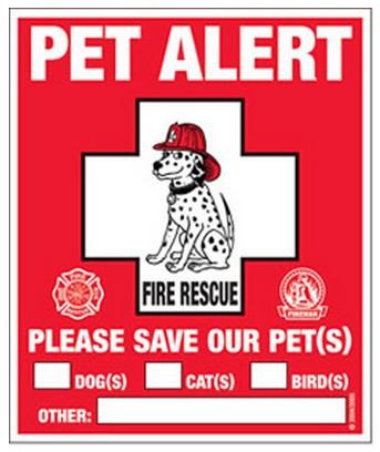 En cas d'absence lors d'un incendie  2011-110