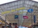 Photo gare + train + tramway à Paris. Hpim0615
