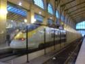 Photo gare + train + tramway à Paris. Hpim0619