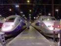 Photo gare + train + tramway à Paris. Hpim0628