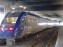 Photo gare + train + tramway à Paris. Hpim0641