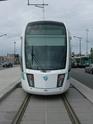 Photo gare + train + tramway à Paris. Hpim0711