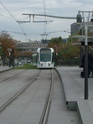 Photo gare + train + tramway à Paris. Hpim0714