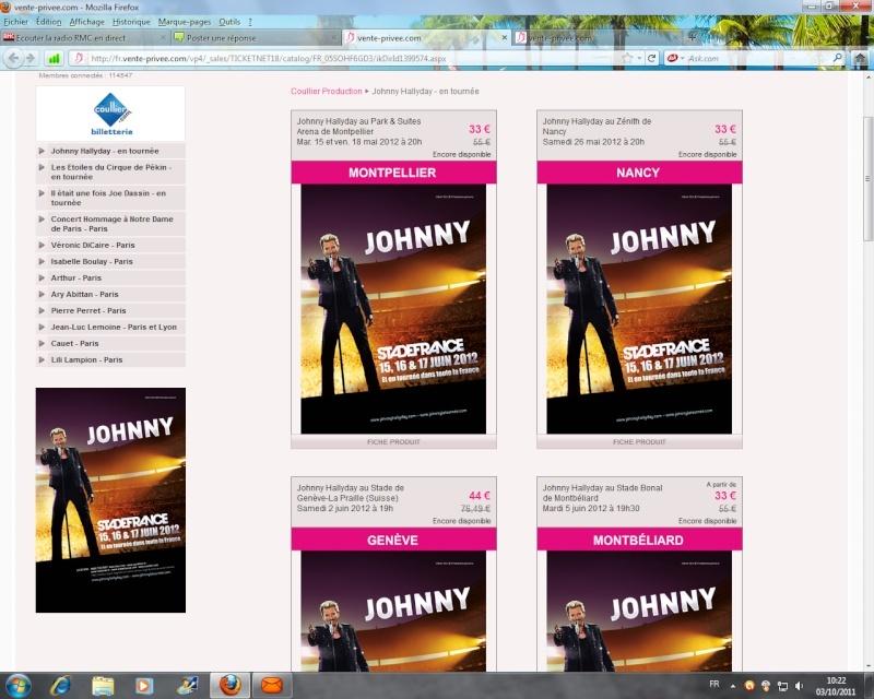 Billets pour la tournée de Johnny sur vente privée ! Johnny10