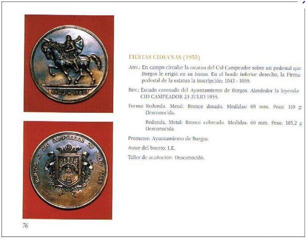 "OFERTA LIBRO ""MEDALLÍSTICA BURGALESA"" Autor : Fernando Sainz Varona Sainz110"