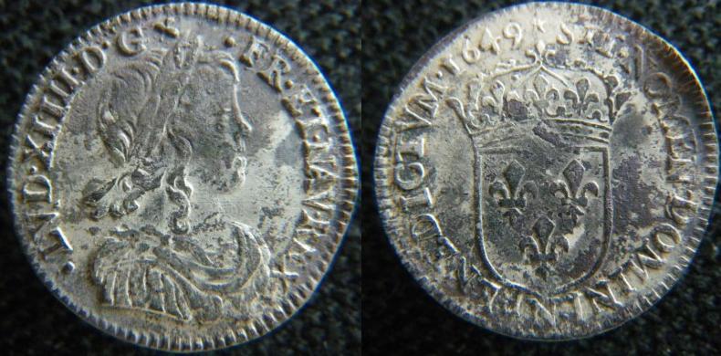 12ème d'écu Louis XIIII pour Montpellier L_xiii10