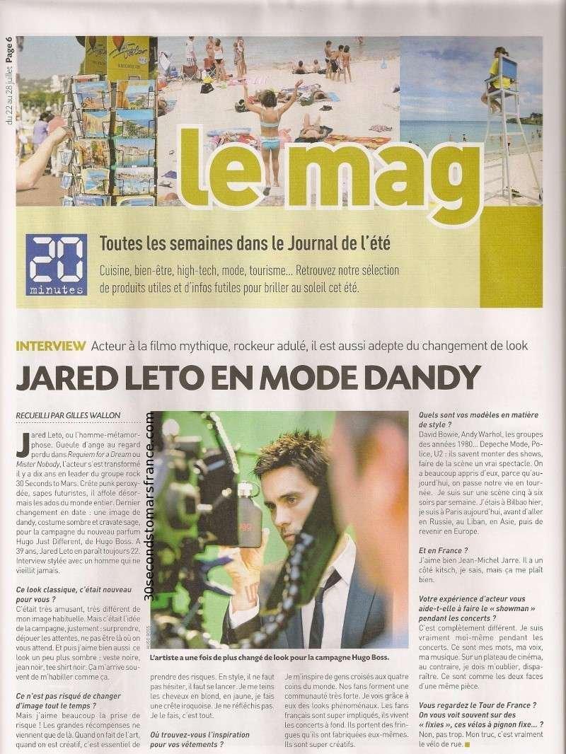 Jared Leto dans le 20 minutes ETE 22/07/2011 20minu10