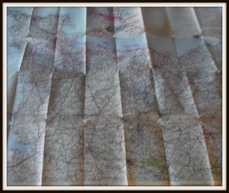 carte de la Normandie juin 1944 Dscf0627