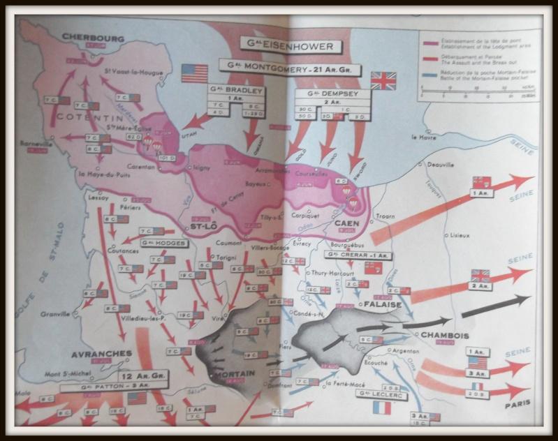 carte de la Normandie juin 1944 Dscf0628