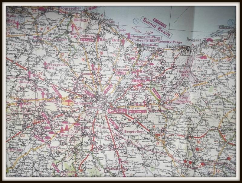 carte de la Normandie juin 1944 Dscf0629