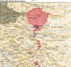 Conflit frontalier: Chine-Inde Map-ko11
