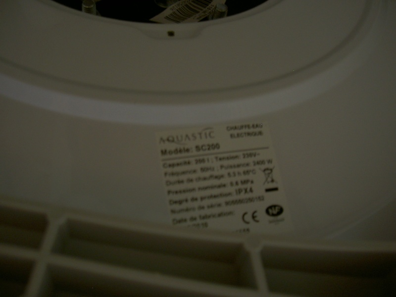 Réglage température et fixation chauffe eau AQUASTIC SC200 Annonc12