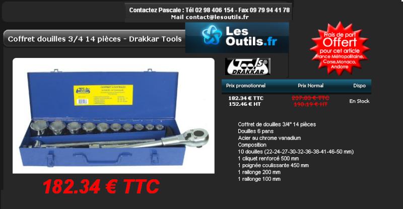 SVP : achat coffret cliquet poids lourds D10