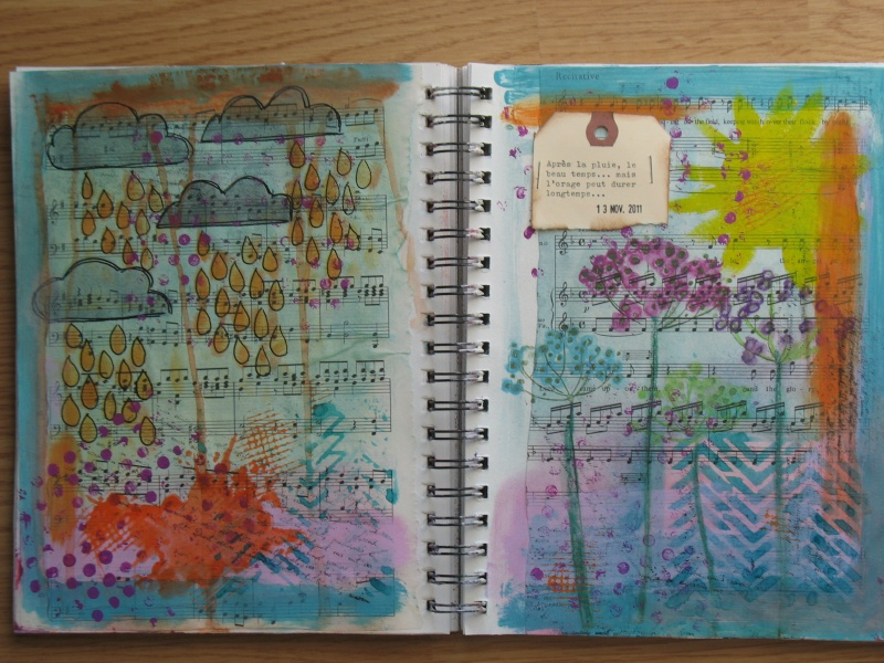 Quelques pages d'art journal + She art Img_6913