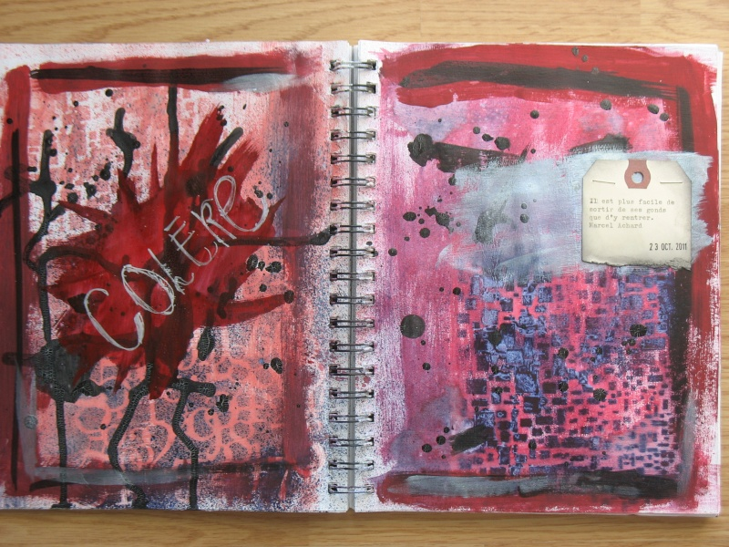 Quelques pages d'art journal + She art Img_6914