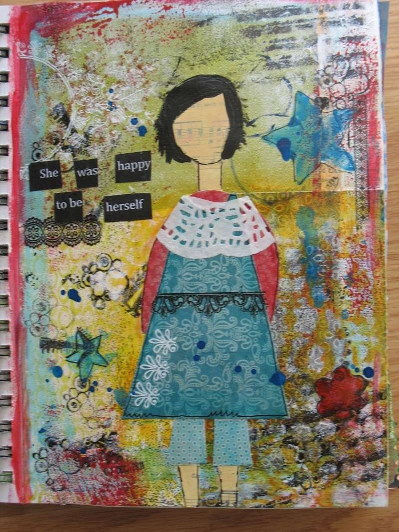 Quelques pages d'art journal + She art Img_6915