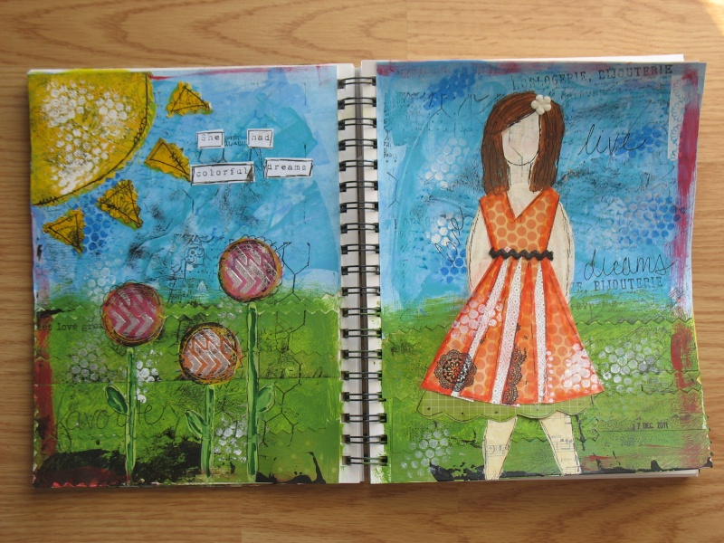 Quelques pages d'art journal + She art Img_6916