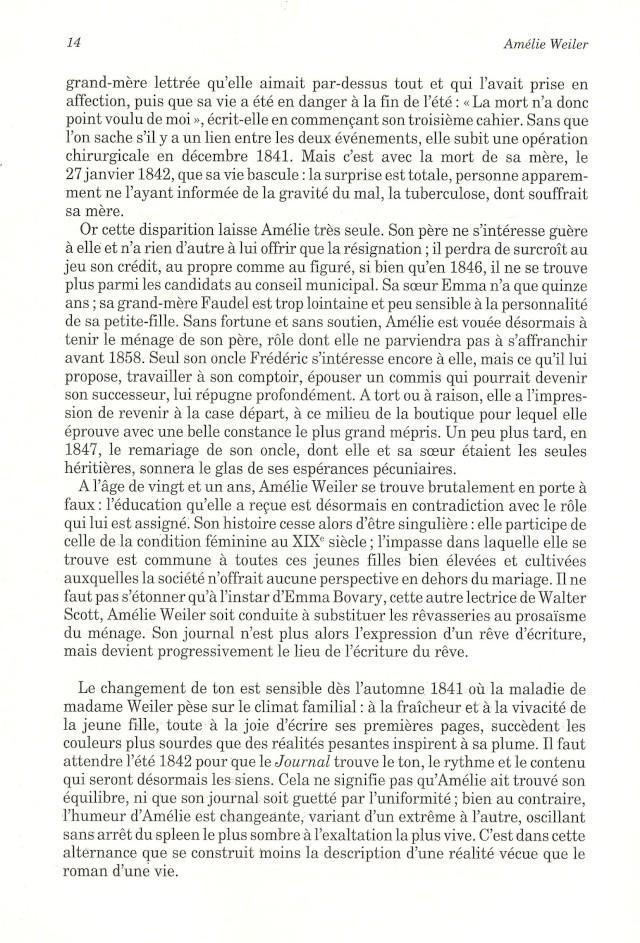 Journal d'une jeune fille mal dans son siècle de Amélie WEILER 1412