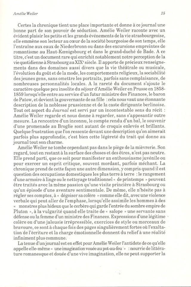 Journal d'une jeune fille mal dans son siècle de Amélie WEILER 1511