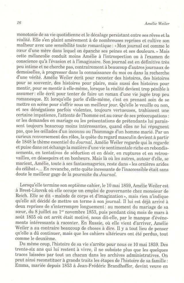 Journal d'une jeune fille mal dans son siècle de Amélie WEILER 1615