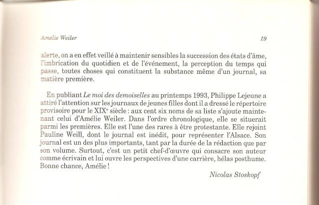 Journal d'une jeune fille mal dans son siècle de Amélie WEILER 1912
