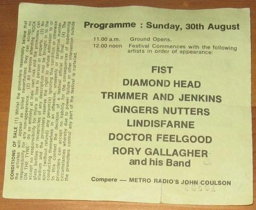 Photos Jonathan Brown, Rock on the Tyne, 30 août 1981 Image201