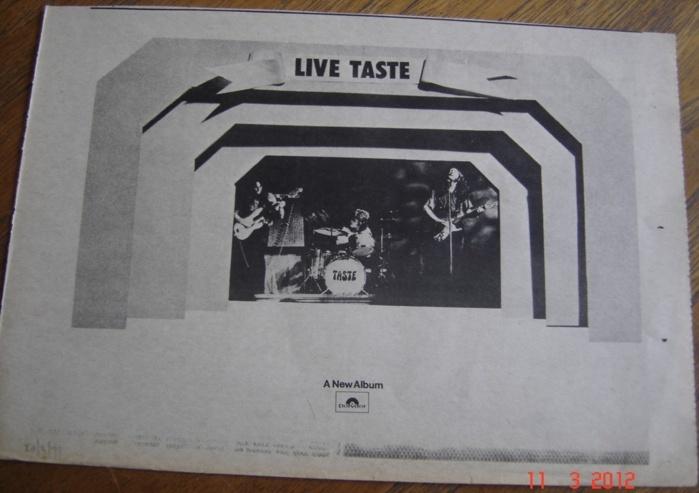 Taste - Taste Live (1970 - paru en 1971) Image241