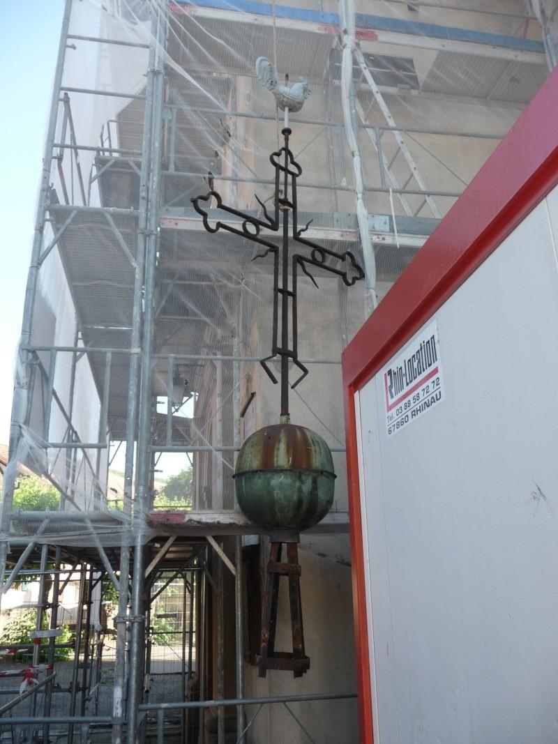 Le chantier de restauration de l'église simultanée de Wangen ... P1080817