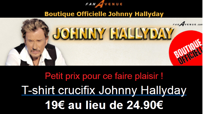 Tee shirt croix johnny hallyday Captur45