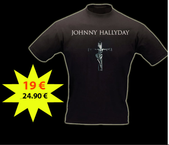 Tee shirt croix johnny hallyday Captur46
