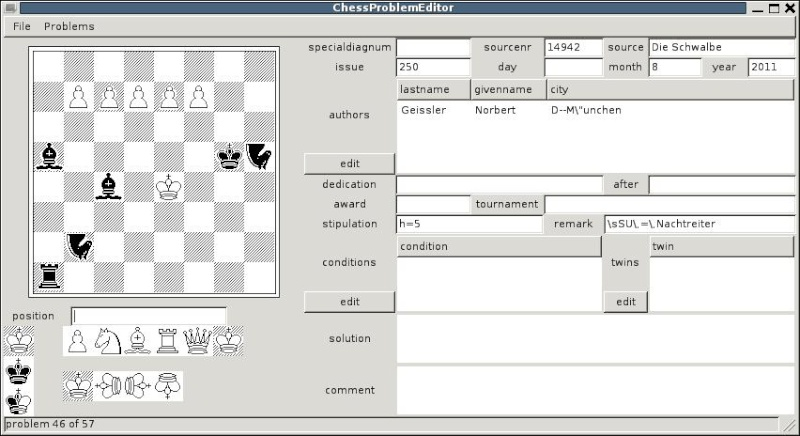 Chess Problem Editor Chessp10