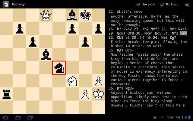 Dark Knight (Chess application) based on Stockfish Screen10