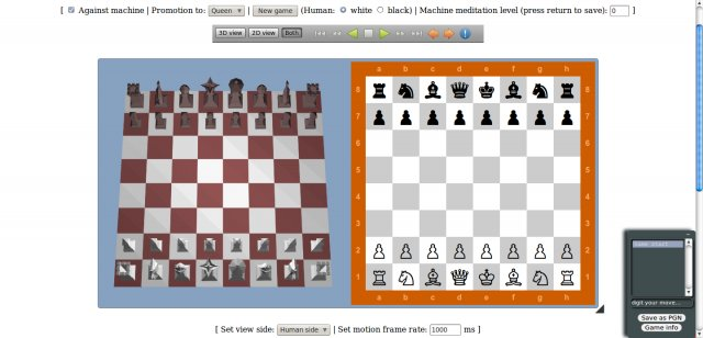 HTML5 2D/3D chess Screen13