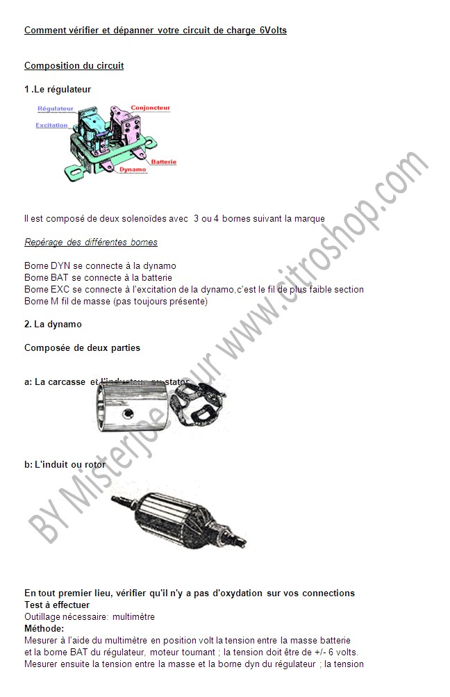 Comment tester un circuit de charge en 6 volts Test_c10